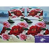100% Baumwolle Satin 200x220 3D Bettwäsche 3tlg Bettwäsche Set Bettbezug Bettwäschegarnitur Kissenbezug