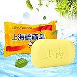 85g Xangai Sabonete de Enxofre Pele Condições Acne Psoríase Eczema Seborrhea Anti Fungo