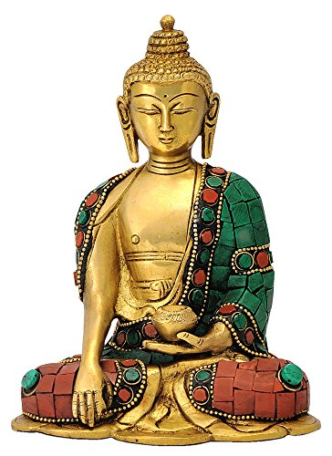 Redbag God Gautam Buddha Brass Statue Sitting Position