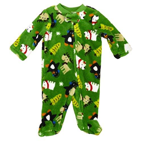Strampler Plüsch Schlafanzug Junge Winter Rentier Eisbär Baby Blanket sleeper Pajama boy (62/68) -