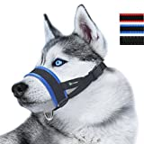 ILEPARK Nylon Soft Dog Muzzle for Dogs Prevent Anti Biting, Barking and Chewing