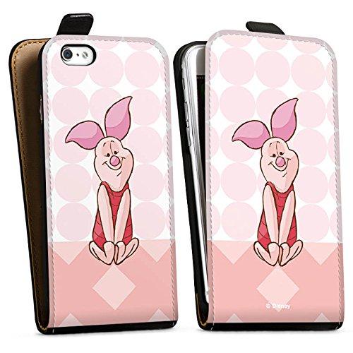 Apple iPhone X Silikon Hülle Case Schutzhülle Disney Winnie Puuh Ferkel Fanartikel Merchandise Downflip Tasche schwarz
