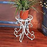IG Möbel blumentopf lagerung Blume Racks DIY blumentöpfe Outdoor töpfe Balkon Indoor Blumen Regale Dekoration Blume Racks Garten Regal,C 34 cm,Weiß