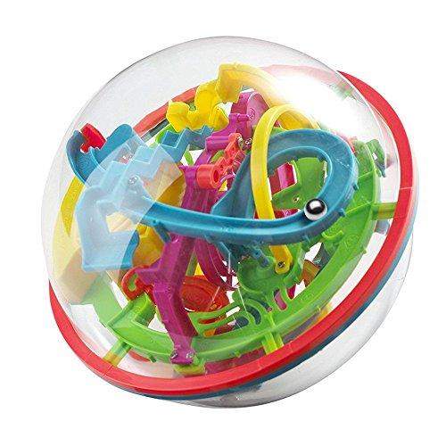 OFKPO Kinder 3D Labyrinth Ball,Bunt Gleichgewicht Puzzle Ball Puzzle Spielzeug für Kinder -
