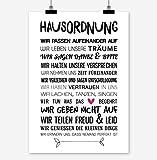 HAUSORDNUNG Kunstdruck Poster (A3)