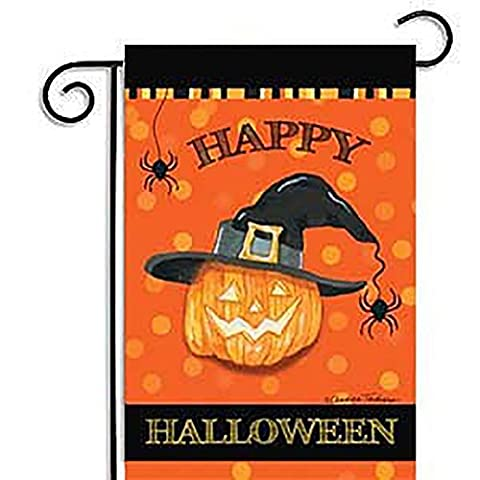 Zantec Weatherproof Halloween Party Banners Home Decoration 30x45CM Cartoon Pumpkin Garden Flag 4#