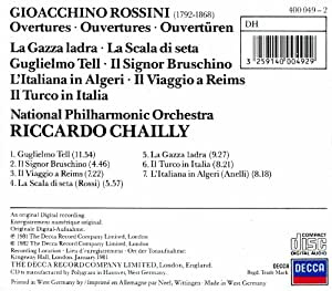 Riccardo Chailly Rossini 7 Overtures [UK Import]