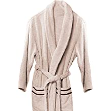 Atenas Home Textile Altea - Albornoz de rizo, talla XL, 100% algodón, 320 g/m², color beige y marrón