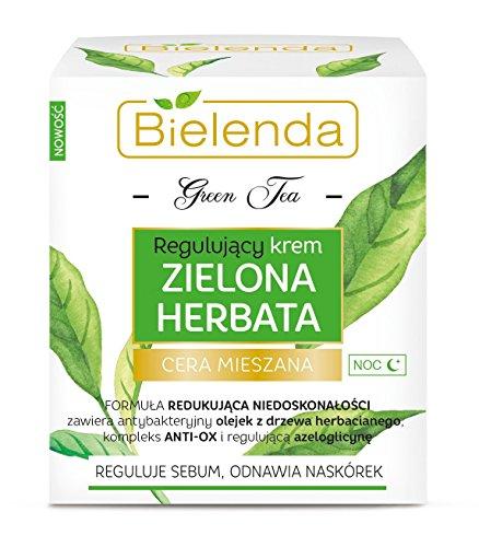 Té verde, crema normalizadora nocturna para pieles mixtas, Bielenda