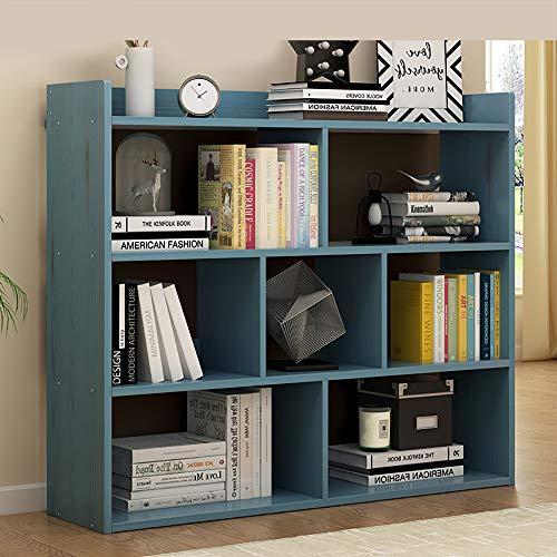 LXDDP Holz Bücherregal mit offenen Würfeln und Regalen - Freistehendes Bücherregal und Vitrine - für Zuhause, Wohnzimmer, Arbeitszimmer (80 × 24 × 104 cm) -