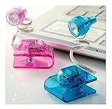 Domire Mini Flexible Adjustable Bright LED Clip on Book Reading Light