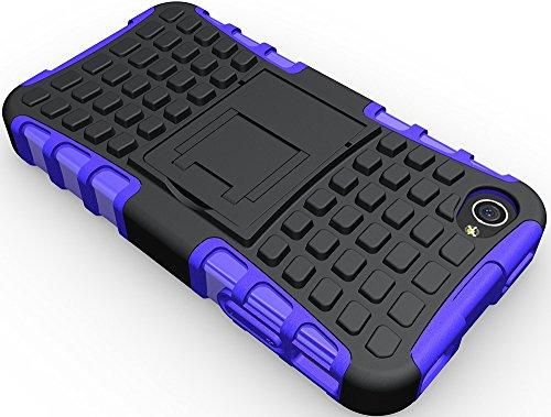 Nnopbeclik 2in1 Dual Layer Coque Iphone 4S Silicone [New] [Armor Séries] Protectrice Fine Et Élégante Rigide Back Cover Incassable case pour Apple Iphone 4S Coque Silicone [Antichoc] (3.5 Pouce) Prote pourpre