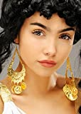 Damen griechische Göttin Goldmünze Ohrringe