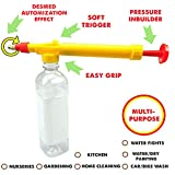 #3: Multi-purpose Cold drink/Juice Bottle Attachable Spray Indoor/Outdoor Gardening Purposes(Pesticides, Watering plants) Holi pichkari Gun Sprayer Water Pressure Suction Sprayer for Car and Bike Cleaning| Water Color Wall Painting| Kid's Water Fighting Toy| Stain Removal Kit| Bathroom Use| Glass/Screen/Lens Cleaner| Kitchen Cleaning