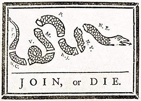 Science Source – Join or Die French and Indian War 1754 Fine Art Print (60.96 x 45.72 cm)