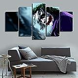 mmwin Moderne Arbeit Wandkunst Poster Home Decoration 5 Panel Film Clown Wohnzimmer Leinwand HD Modulare Druck Malerei Bilder