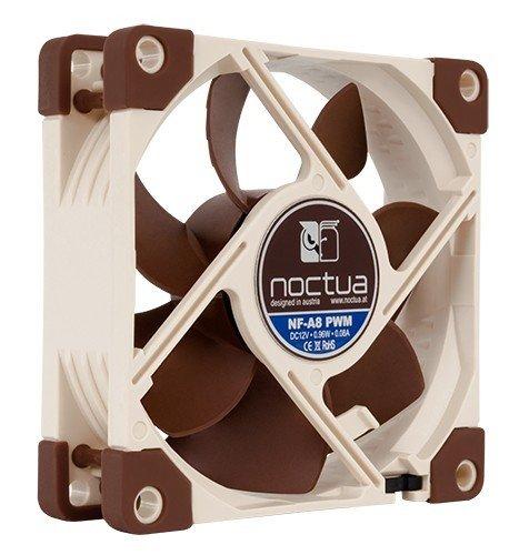 Noctua NF-A8 PWM Carcasa del ordenador Enfriador - Ventilador de PC (Carcasa del ordenador, Enfriador, 8 cm, 450 RPM, 2200 RPM, 13,8 dB)