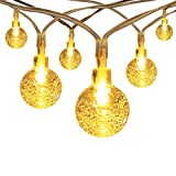 InnooLight Battery Operated String Lights 40 LED Crystal Ball, Ambiance Lighting, Great Outdoor Use for Patio, Pathway, Garden, Indoor Use in Party, Bedroom Decor (Warm White)