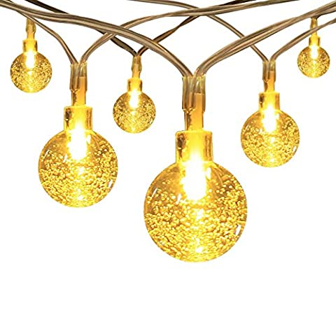InnooLight Battery Operated String Lights 40 LED Crystal Ball, Ambiance Lighting, Great Outdoor Use for Patio, Pathway, Garden, Indoor Use in Party, Bedroom Decor (Warm