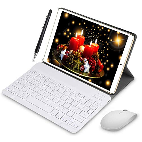 4G Tablette Tactile 10 Pouces WiFi 3GO RAM 64GO/128Go ROM Quad Core Tablette Android 8.1 avec Stylet Tactile OTG et Google Play 5MP+8MP Caméra Dual Carte SIM Tablette PC Portable Pas Cher(Or)