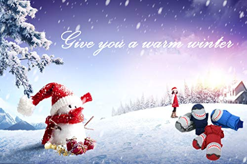 3cb71f0660fa Eshall Gants de Ski Enfant Moufle de Snowboard Fille Garçon avec ...