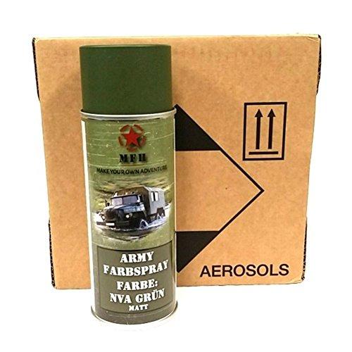 6 DS BW Army Farbspraydosen Sprüh Armeelack a. 400ml 12,98 ?/Liter NVA grün matt