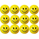 Plutofit® Smiley Face Stress Relieve Squeeze Balls - Set Of 12