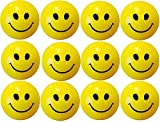 #8: Gold Leaf Cute Funny Yellow Smiley Face Squeeze Ball Pack of 12