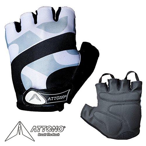 ATTONO Fahrradhandschuhe Damen Herren Gel Fahrrad Handschuhe - Größe 5