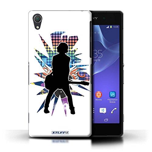 Kobalt® Imprimé Etui / Coque pour Sony Xperia Z2 / Pencher Blanc conception / Série Rock Star Pose émotion Blanc