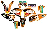 KTM Kit de adhesivos en vinilo MX para EXC 125 mix 2 (no original)
