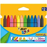 BIC Kids Plastidecor Triangle Craies de Coloriage - Etui Carton de 12