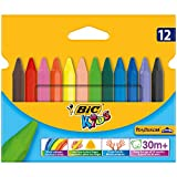 BIC Kids Plastidecor Triangle Colouring Crayons 12 Pack