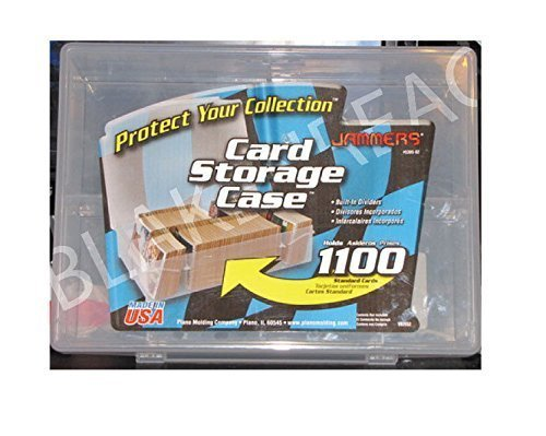Plano Trading Card Storage Case Box Jammers Holds 1100 Baseball Basketball by Sports Related Trading Card Storage Boxes