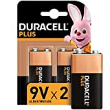 Duracell 6LR61 MX1604 - Plus 9V, pilas alcalinas, (paquete de 2) 1.5 voltios