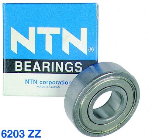 Kugellager 6203 ZZ NTN/SNR 17 x 40 x 12 mm, staubdicht, beidseitig mit Metallabdeckscheibe (6203 Kugellager)