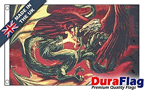 DuraFlag® Dragon VS Eagle Professional Quality Flag (Roped and Toggled)