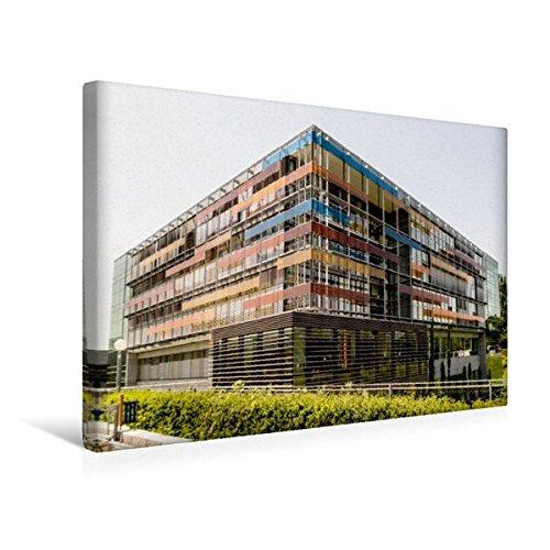 Calvendo Premium Textil-Leinwand 45 cm x 30 cm Quer, Heidelberg - Kinderklinik, Neuenheimer Feld | Wandbild, Bild auf Keilrahmen, Fertigbild auf Echter Leinwand, Leinwanddruck Orte Orte