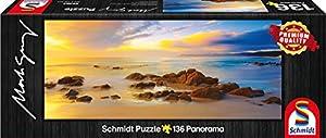 Schmidt Spiele 59364-Mark Gray, Friendly Beaches-Tasmania, Australia, 136Piezas, clásica Puzzle