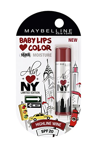Maybelline Alia Loves New York Baby Lips Lip Balm, Highline Wine, 4g