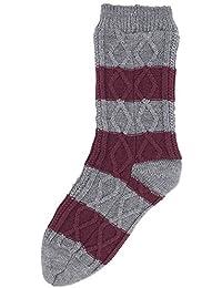 Style It Up Hombre Grueso Calcetines Pantufla para Acurrucarse Forro Polar de Ochos Térmicos Cálidos Idea