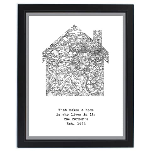 1805 1874 Old Series Map Home Framed Print House, Warming, Gifts, and, Cards Wedding, Gift, Idea Occasion, Gift, Idea