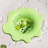 ODN Silikon Küche Badezimmer Abflusssieb Haarfangsieb (Gruen)