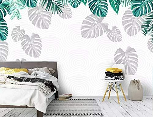 YiShuQiang Wallpaper Fototapeten Monstera Bananenblatt Grünpflanze Tapetens Wandbilder Wohnzimmer Schlafzimmer Büro Flur Dekoration Fototapetens,366 * 254cm(WXH)