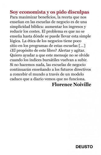 Soy economista y os pido disculpas por Florence Noiville