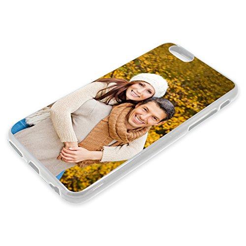 PixiPrints Premium Handyhülle selbst gestalten mit eigenem Foto und Text * Bild Schutzhülle, Hüllentyp: TPU-Silikon/Transparent (Seiten), Kompatibel mit Apple iPhone XS Max