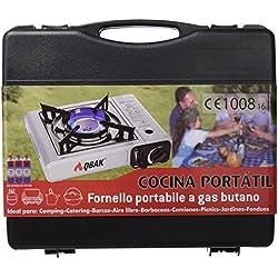 QBAK MS-2500 - Cocina Portátil, Negro y Plata