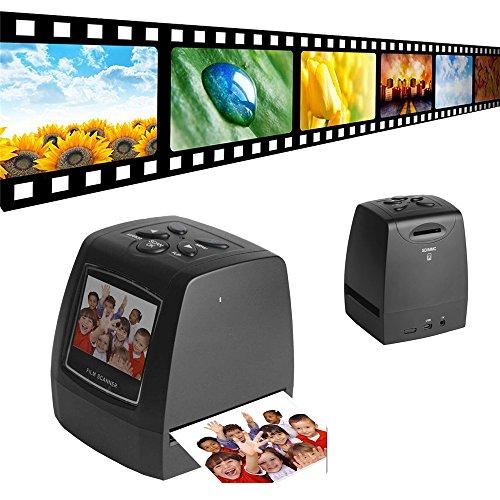 Scanner de Diapositives et Négatifs 35 mm Convertisseur de Négatifs à Images Numériques 5 ou 10 Mégapixels JPEGs avec 2,4 pouces Écran LCD et et Sortie TV