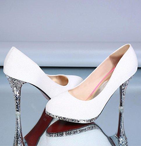 Da donna-Tacchi-Formale / Serata e festa-Tacchi-A stiletto-Lustrini-Rosa / Rosso / Bianco / Argento White