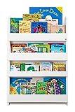 Tidy Books ® - Regal Kinderzimmer | Weiß | Bücherregal für Kinder | Montessori Material | Holzregal | 115 x 77 x 7 cm | Nachhaltig und Umweltfreundlich | Handgefertigt | Das Original seit 2004